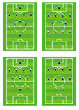 Soccer team tactical schemes. Stock Image