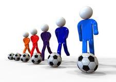 Soccer team training concept Stock Photos