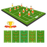 Soccer team vector clip-art Stock Photos