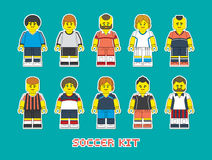 Soccer team 1 Royalty Free Stock Photo