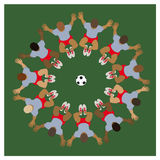 Soccer team Royalty Free Stock Images