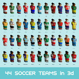 Soccer Teams Icons Set Royalty Free Stock Photography