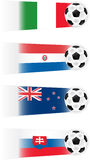 Soccer Teams Illustrations Royalty Free Stock Images