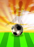 Soccer template with ball and player Royalty Free Stock Photo