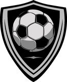 Soccer Template with Shield. Graphic soccer ball image template with shield Royalty Free Stock Image