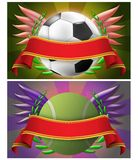 Soccer and tennis banner Royalty Free Stock Photos