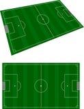 Soccer terrain Stock Image