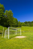 Soccer terrain in nature. Soccer terrain by the forrest Royalty Free Stock Photography
