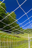 Soccer terrain in nature. Soccer terrain by the forrest Royalty Free Stock Photos