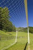 Soccer terrain in nature. Soccer terrain by the forrest Royalty Free Stock Photo