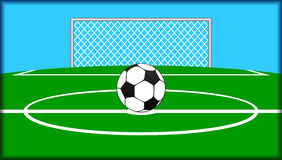 Soccer theme. Royalty Free Stock Photo