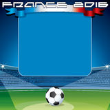 Soccer Theme Backdrop. Ready for Your Text Stock Photos