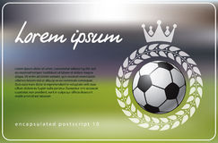 Soccer theme background Stock Images