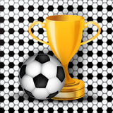 Soccer theme Stock Photography