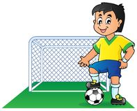Soccer theme image 1 Stock Photo