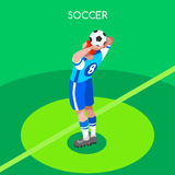 Soccer Throw Summer Games 3D Isometric Vector Illustration Royalty Free Stock Image