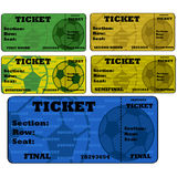 Soccer tickets Stock Photos