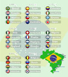 Soccer Tournament 2014. Vector illustration background Stock Photo