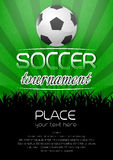 Soccer tournament background with ball Stock Image