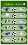 Soccer Tournament of Brazil 2014 Group D Stock Images