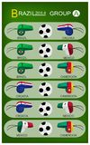 Soccer Tournament of Brazil 2014 Group A Royalty Free Stock Images