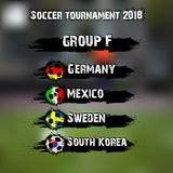 Soccer tournament 2018 group F. Soccer tournament 2018. Football championship group F. Vector illustration Stock Photo