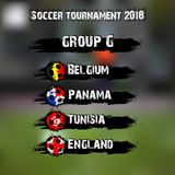 Soccer tournament 2018 group G. Soccer tournament 2018. Football championship group G. Vector illustration Royalty Free Stock Photo