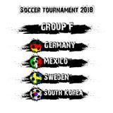 Soccer tournament 2018 group F. Soccer tournament 2018. Football championship group F. Vector illustration Royalty Free Stock Photo