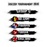 Soccer tournament 2018 group G. Soccer tournament 2018. Football championship group G. Vector illustration Stock Photo