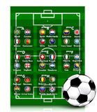 Soccer Tournament 2014. Illustration background Royalty Free Stock Image