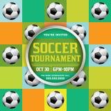 Soccer Tournament Illustration Stock Image