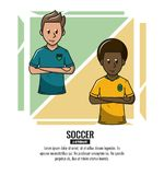 Soccer tournament infographic vector illustration