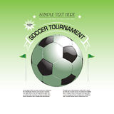 Soccer tournament invitation poster illustration Stock Photos