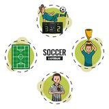 Soccer tournament league. With round symbols cartoons vector illustration graphic design Royalty Free Stock Image