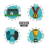 Soccer tournament league. With round symbols cartoons vector illustration graphic design Royalty Free Stock Photography