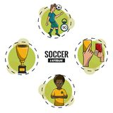 Soccer tournament league. With round symbols cartoons vector illustration graphic design Stock Photography