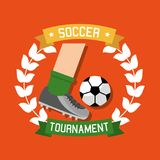 Soccer tournament sport competition banner Royalty Free Stock Image