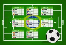 Soccer Tournament 2014. Vector illustration Royalty Free Stock Images