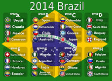 Soccer Tournament 2014. Vector illustration background Royalty Free Stock Images