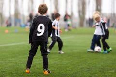 Soccer training for boys Stock Photo