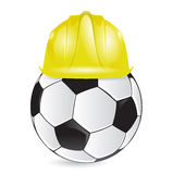 Soccer training construction illustration design Stock Photo