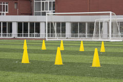 Soccer training field Royalty Free Stock Photography