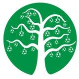 Soccer tree vector Royalty Free Stock Photos