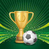 Soccer trophies Royalty Free Stock Image