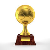 Soccer trophy Royalty Free Stock Image