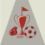 Soccer trophy Royalty Free Stock Images