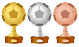 Soccer trophy set Royalty Free Stock Photos