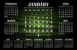 Soccer Turf background. Calendar 2016 and happy new year Stock Photo