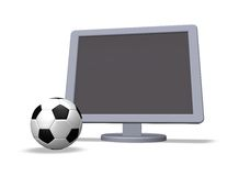 Soccer in tv Stock Image