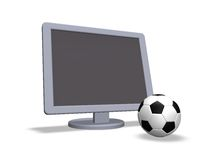 Soccer tv Royalty Free Stock Photography